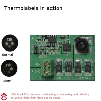 3r-mini thermolabel indiceert te warm component
